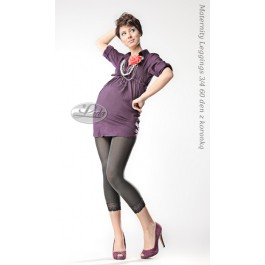 Maternity Leggins with lace 3/4